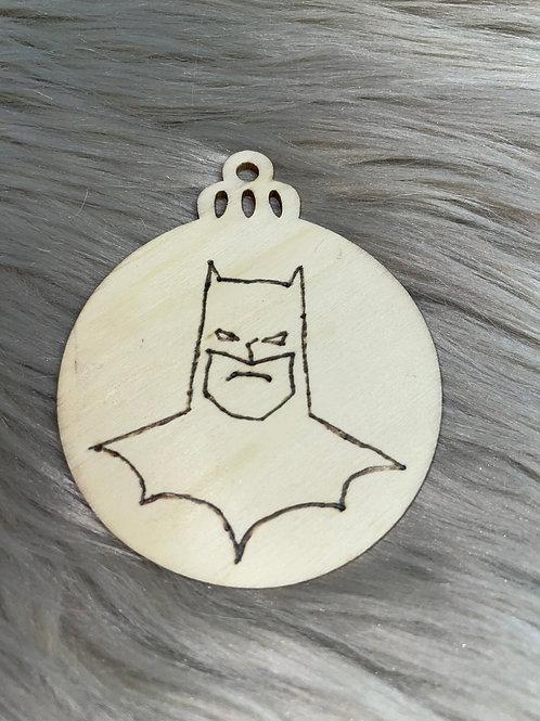 Batman Face Wood Ornament