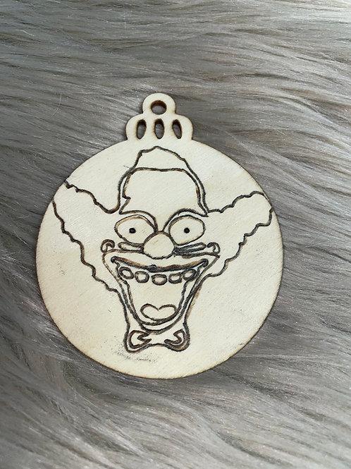 Clown Wood Ornament