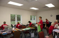 Sewing pillowcases for CHKD