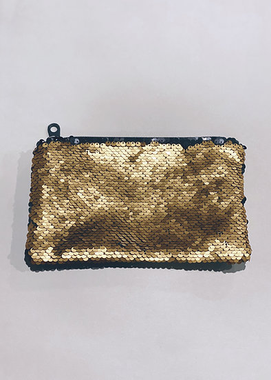 Sequin Zip Bag