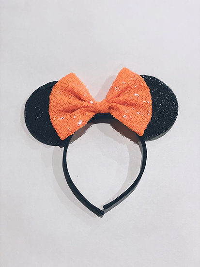 Orange Mickey Mouse Ears