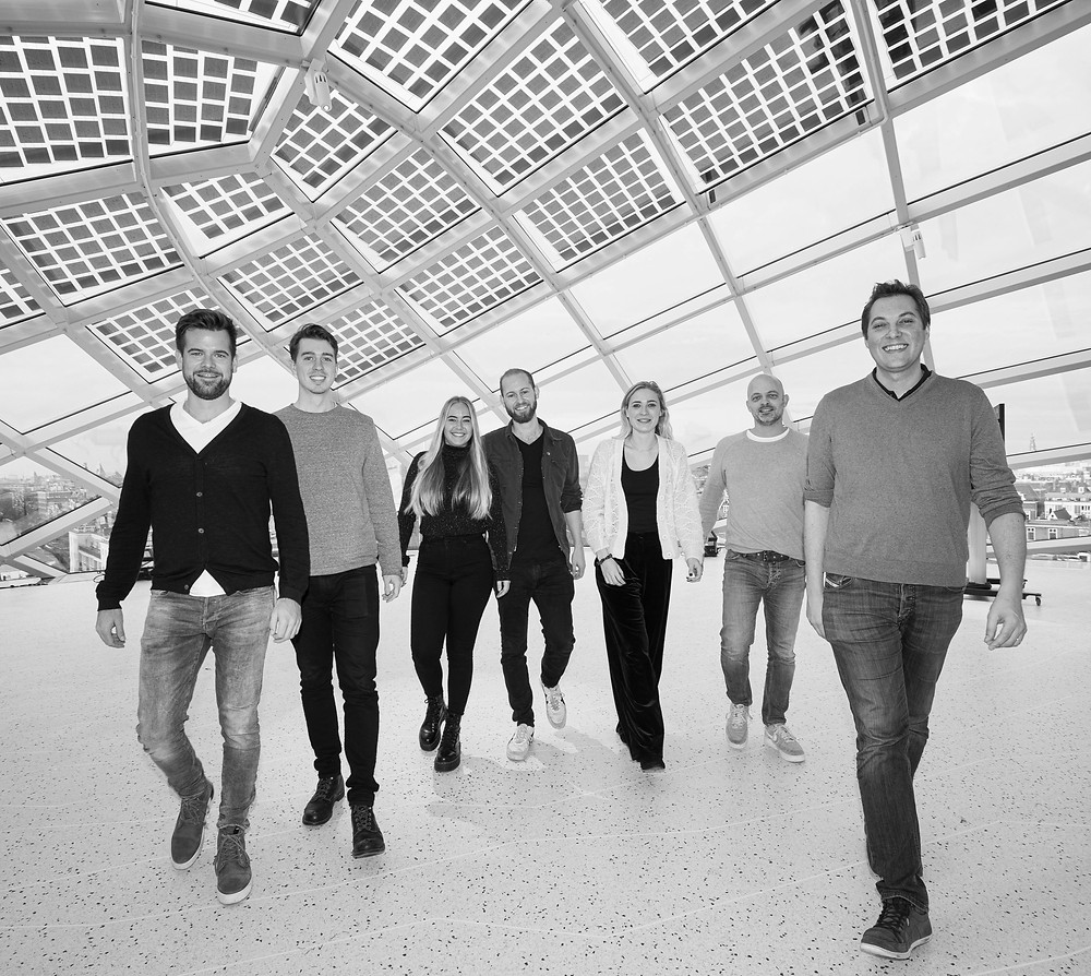 Part of the weGrow team at Captial C - Amsterdam (from left to right: Gernot Schwendtner, Maiko Kamerbeek, Louise Gaillard, Wolfgang Langeder, Marleen ten Damme, Edo van der Bas, Florent Coudyser)
