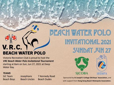 V.R.C. Beach Water Polo Invitational Tournament