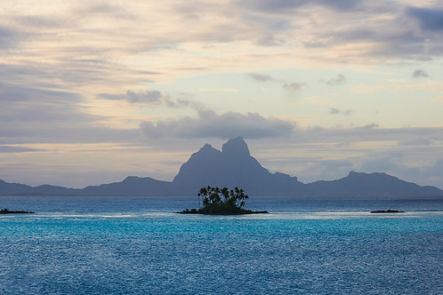 CANVAS PRINT - Society Islands - 600mm x 300mm