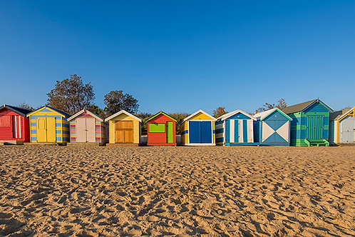 CANVAS PRINT - Brighton Beach Huts - 1000mm x 500mm