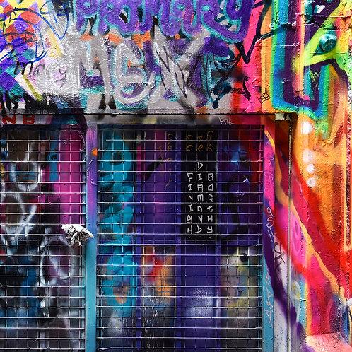 CANVAS PRINT - Graffiti - 750mm x 750mm