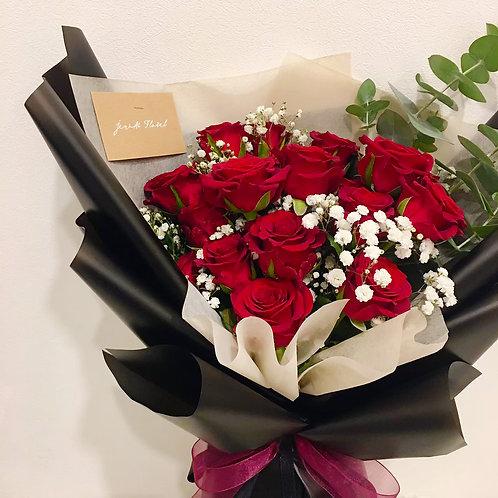 經典紅玫瑰花束