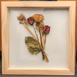 Sweeping Arrangement in Pine Box Frame