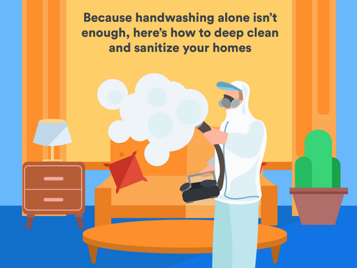 Because Handwashing Alone Isn't Enough, Here's How to Deep Clean and Sanitize Your Homes