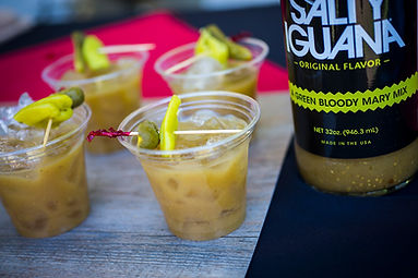 Image taken at Westword Dish of Salty Iguana Green Bloody Mary