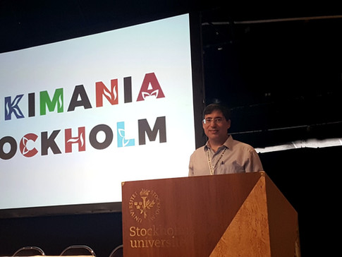 ויקימנטור מרצה באוניברסיטת שטוקהולם על שילוב סטודנטים בעריכה בויקימילון במסגרת הכנס הבינלאומי ויקימניה 2019.