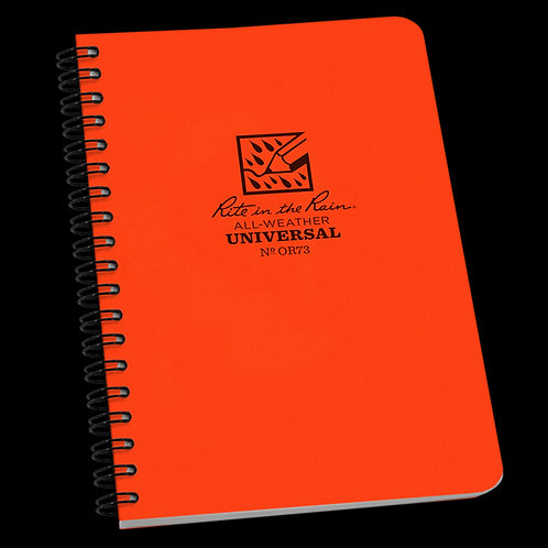 Rite In The Rain Side Spiral Universal Book Orange, #OR73