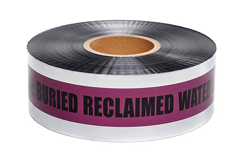 Presco Detectable Tape - Buried Reclaimed Water Line - Select Size