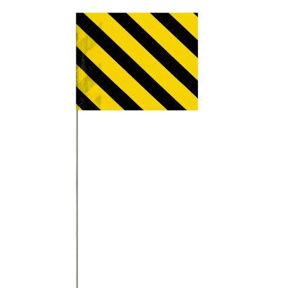 """Presco Striped Pin Flags Wire Staff 30"""""""