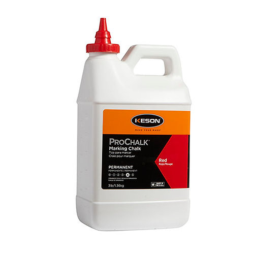 Keson ProChalk 3 lb. Permanent (Level 4) Marking Chalk