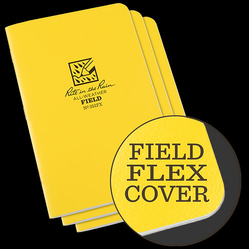 Rite In The Rain Field Flex Field Book 3-pk, #351FX