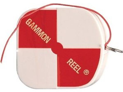 Gammon Reel 6', 12' (White/Red)