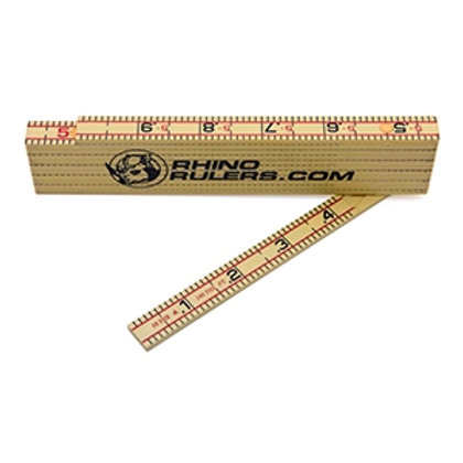 Rhino Rulers 6' Folding Fiberglass Ruler - Engineers' & Inches