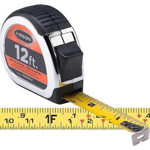 Keson PG181012 12' Pocket Tape Inches/Tenths