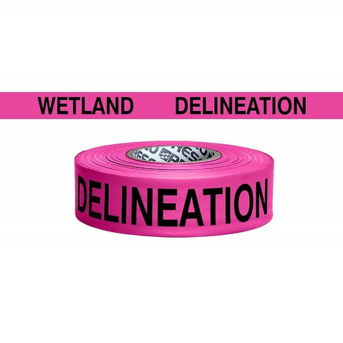 "Presco Coarse Matte Printed Roll Flagging ""Wetland Delineation"""