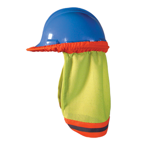 Occunomix High Visibility Mesh Hard Hat Shade With Reflective Stripe