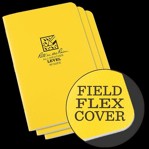 Rite In The Rain Field Flex Level Book 3-pk, #311FX
