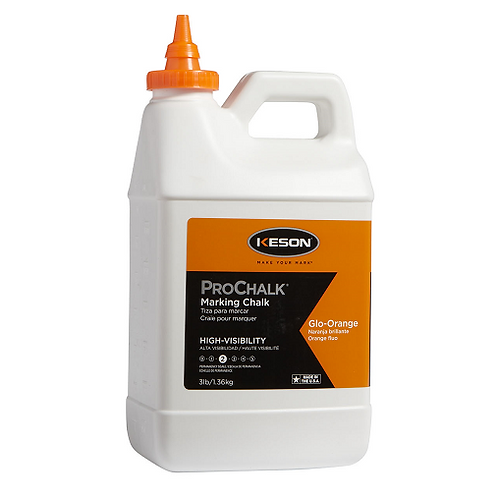 Keson ProChalk 3 lb High Visibility (Level 2) Marking Chalk Glo-Orange