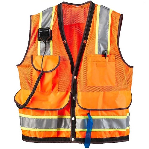 JIM-GEM® 8-Pocket Class 2 Mesh Vests - Orange