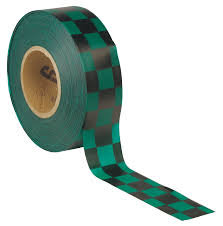 Tuff Industries Checkered Roll Flagging Green/Black