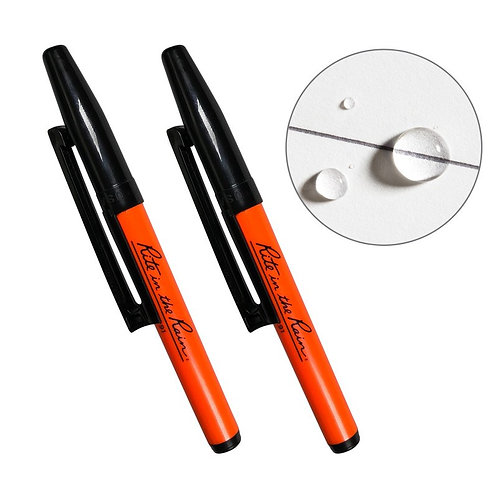 Rite In The Rain OR91 Orange Belt Clip Pens - 2 Pack