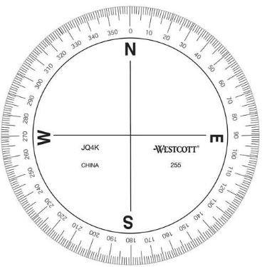 "Peco C-THRU 47954 3.5"" 360° Circular Protractor"