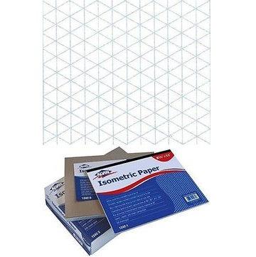 "Alvin 1242-5 8.5"" x 11"" Isometric Paper - 100 Sheets"