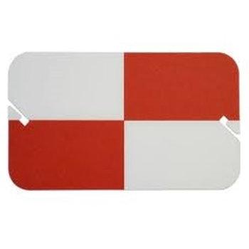 Sokkia Red/White Plastic Target Card