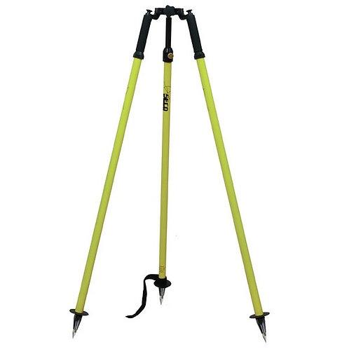 SECO Fluorescent Yellow Thumb-Release Prism Pole Tripod