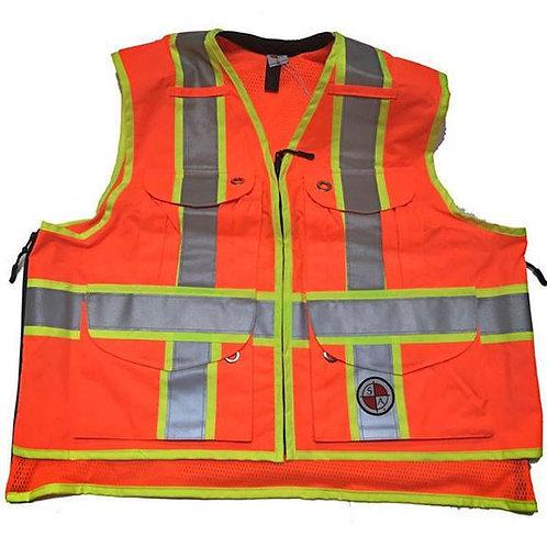 Safety Apparel Class 2 Safety Vests - Orange