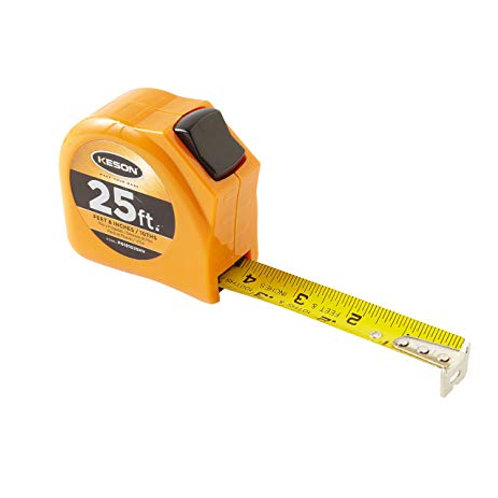Keson 25ft Pocket Tape Toggle Series Tenths/Inches