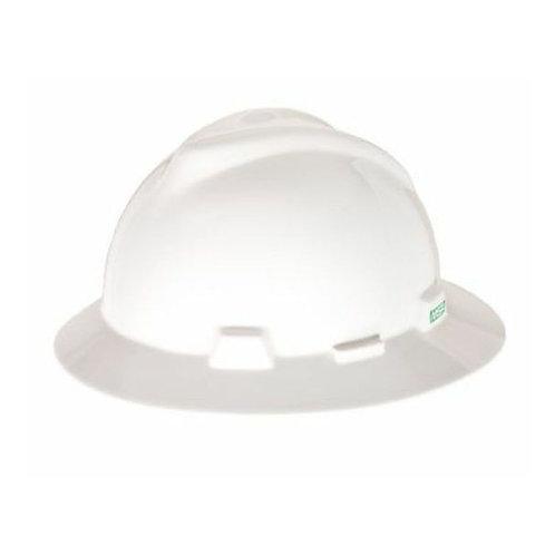 MSA V-Gard Full Brim Hard Hat White