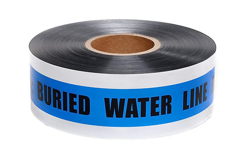 Presco Detectable Tape - Buried Water Line - Select Size