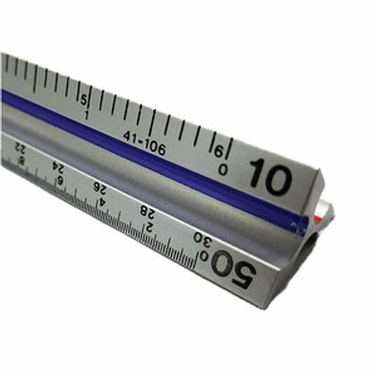 """Fairgate TE12 12"""" Aluminum Triangular Engineer's Scale"""