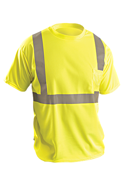 Occunomix ANSI Class 2 High Visibility T-Shirt With Pocket - Yellow
