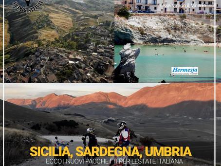 Sicilia, Umbria, Sardegna, off-road: ecco i nuovi pacchetti di Italian Bikers.