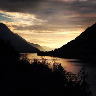 November sunset at lake Como. Wow!