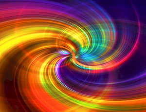 swirling intermeshed colors