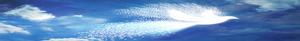 abstract white bird streaming across deep blue sky