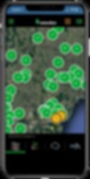 метеостанции на карте в мобильном приложении