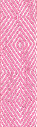 Textilband i lin 40mm Rosa