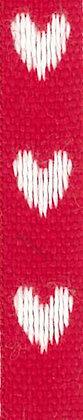 One Heart Röd/Vit 12mm