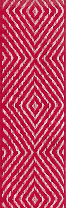 Textilband i lin 40mm Röd