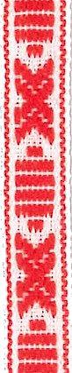 Allmogeband 10mm Röd