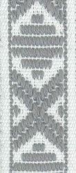 Klassiskt allmogeband 15mm Vit/Grå